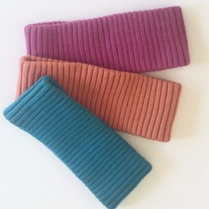 Accessories - Ribbed Knit Headbands Set of 3 Stretch One Size